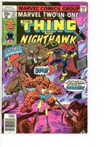 Marvel Two-In-One 34 VG/F   Nighthawk!