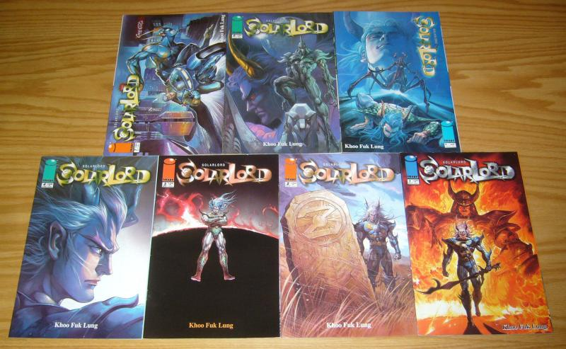 Solar Lord #1-7 VF/NM complete series - khoo fuk lung - image comics manga set