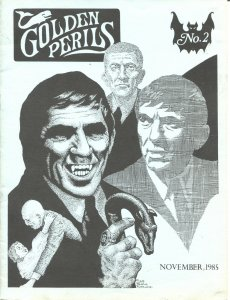 GOLDEN PERILS #2--1985--BLUE BEETLE-AVENGER PULP MAG-DARK SHADOWS-DOC SAVAGE