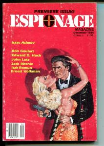 Espionage #1 12/1984-violent pulp crime stories-Isaac Asimov- Lutz-Goulart-VF