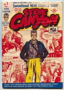 Steve Canyon #1 1948- Harvey first issue- Bob Powell G-