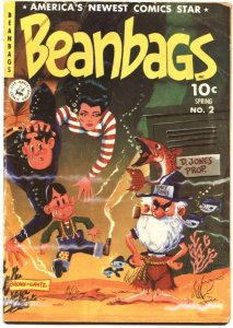 BEANBAGS #2-1952-FINAL ISSUE-ELUSIVE HUMOR SERIES-BROWN & GANTZ-ZIFF DAVIS