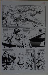 STEVE RUDE / GARY MARTIN original art, THE MOTH #2 pg 13, 11x17, America Liberty