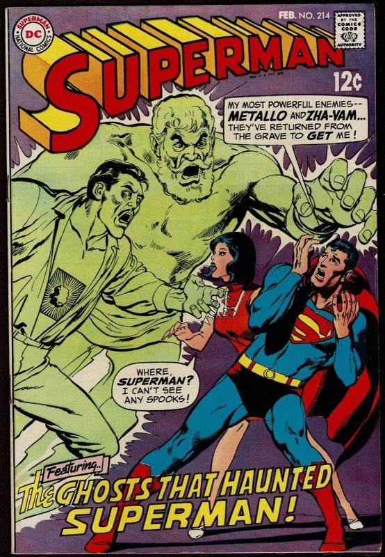 Superman #214 (Feb 1969, DC) 6.5 FN+