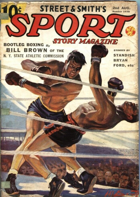 SPORT STORY PULP MAG-H W SCOTT BOXING COVER-GOLF-WALTER JOHNSON STORY