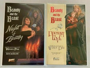 Beauty and the Beast #1s both 1st Prints all 2 diff books 8.0 VF (1989 + 1990)