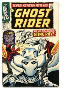 Ghost Rider #4 1967-Marvel-great cover-Dick Ayers art fn+