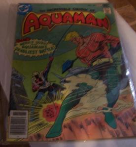 AQUAMAN # 58 DC COMICS 1977 ORIGIN ISSUE + MERA'S QUEST +FISHGERMAN