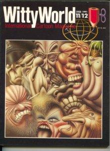 Witty World #11/12 1991-International Cartoon Magazine-cartoonist self portraits