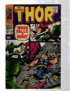 Mighty Thor # 149 VF Marvel Comic Book Loki Odin Asgard Sif Avengers Hulk RB8