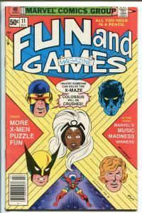 MARVEL FUN AND GAMES #11 1980-UNWORKED PUZZLES AND GAMES-X-MEN-vf minus