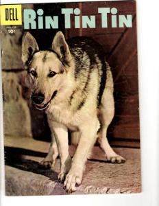 Rin Tin Tin # 17 FN 1957 Dell Silver Age Comic Book Photo Cover JL17