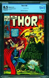 Thor #188 CBCS VF+ 8.5 Off White to White Marvel Comics