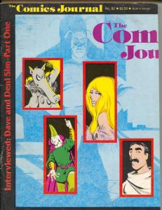 Comics Journal #82 1983-Fantagraphics-Dave & Deni Sim-Cerebus-G