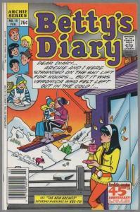 BETTYS DIARY (1986-    ) 15 VF  Feb. 1988