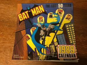 BATMAN 1989 Calendar First 50 Years Design Look Famous Covers Joker Robin TWT1