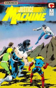 Justice Machine (1987 series) #18, NM + (Stock photo)