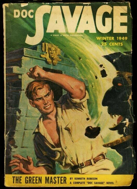 DOC SAVAGE 1949 WINT-RARE LATE ISSUE-HERO PULP VG