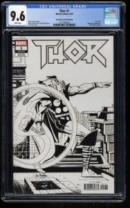 Thor (2018) #1 CGC NM+ 9.6 Jack Kirby Remastered Sketch Variant!