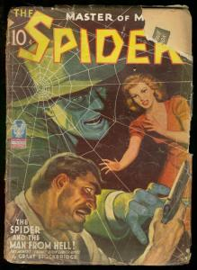 THE SPIDER JUNE 1943 MAN FROM HELL STOCKBRIDGE HERO PUL FR/G
