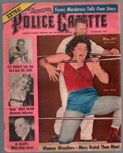 Police Gazette 5/1950-women wrestlers-Al Jolson-Ezzard Charles-cheesecake-VG+
