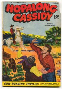 Hopalong Cassidy #26 1948-Fawcett Western FAIR
