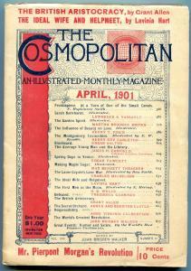 The Cosmopolitan Magazine April 1901- HG Wells story- Rare F/VF