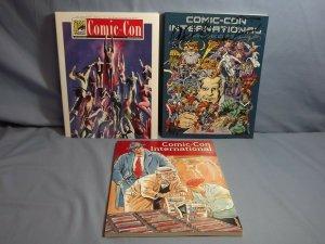 Four San Diego Comic Con SDCC Souvenir Programs AUTOGRAPHED 2004 2005 2008