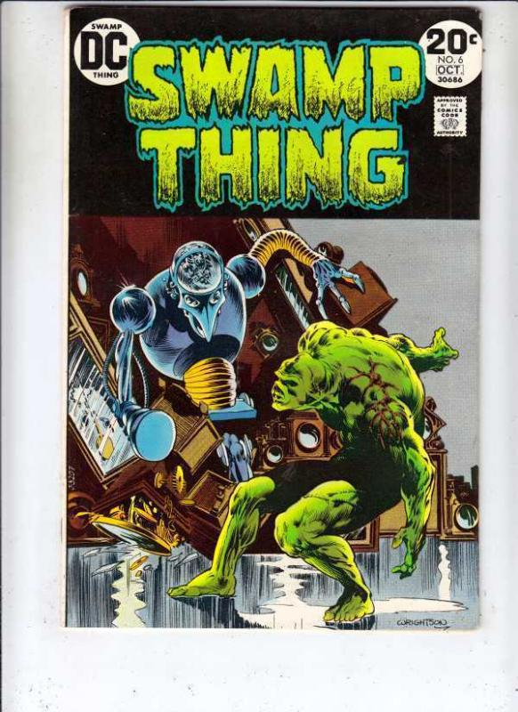 Swamp Thing 6 strict VF- High-Grade Wrightson Art huge run! 40pct- BV$37.00