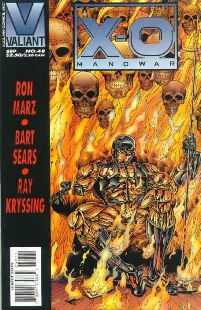 X-O Manowar (1992 series) #48, VF+ (Stock photo)