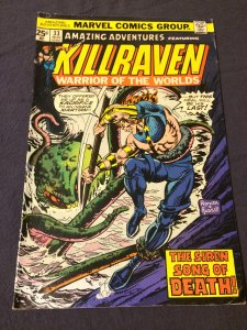 Amazing Adventures Starring Killraven #33 Marvel (1975) VF