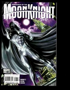Lot Of 9 Moon Knight Marvel Comics # 1 2 4 5 6 8 9 10 Silent Knight One-Shot SM2