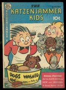KATZENJAMMER KIDS #6 1948-DOG WASHING COVER-SLAPSTICK VG+