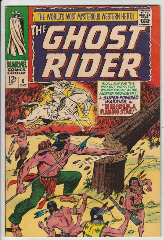 Ghost Rider, The Western #6 (Oct-67) VF+ High-Grade Ghost Rider