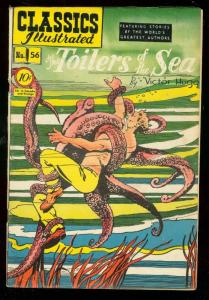 Classics Illustrated #56 HRN 55-TOILERS OF SEA-OCTOPUS FN