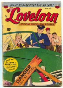 Lovelorn #18 1951- Car make out cover- Golden Age Romance G/VG