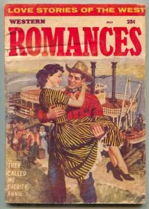Western Romances Pulp July 1958- Rare late issue- Sheriff Annie