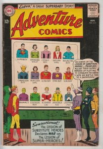 Adventure Comics #311 (Aug-63) VG/FN+ Mid-Grade Legion of Super-Heroes (Super...