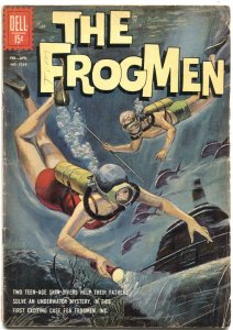 FROGMEN #1258--1962--GEORGE EVANS ART-FIRST ISSUE-DELL FOUR COLOR-UNDER WATER