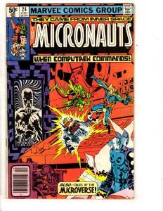 Lot Of 7 Micronauts Marvel Comic Books # 24 25 26 27 28 29 30 Inner Space RJ6