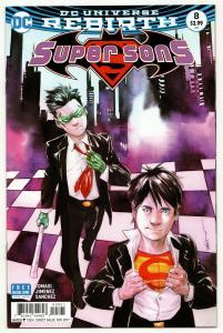 Super Sons #8 Rebirth Variant Cvr (DC, 2017) VF/NM
