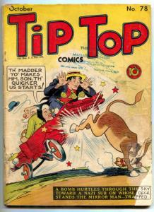 Tip Top #78 1942- Mirror Man- Triple Terror- restored reading copy