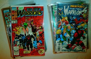 New Warriors V1 #1-53+ (no 3,7,24,27) +Firestar Speedball Nova, comics lot of 69