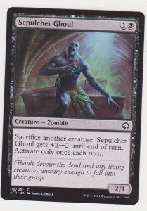 Magic the Gathering: Adventures in the Forgotten Realms- Sepulcher Ghoul