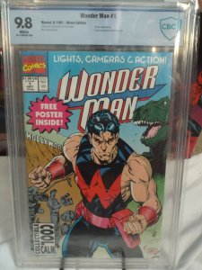 Wonder Man #1 - CBCS 9.8 - NM/MINT - White Pages - Marvel 1991