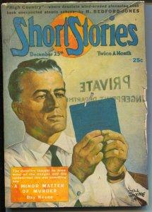 Short Stories 12/25/1945-private eye-Jim Kjelgaard-Day Keene-pulp fiction-FN-