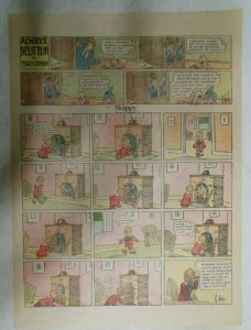 Skippy Sunday Page by Percy Crosby from 2/22/1931 Size: 11 x 15 inches