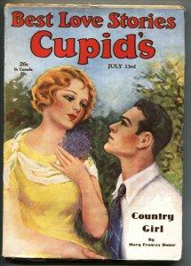 Cupid's Best Love Stories July 23, 1930-RARE romance Pulp-High Grade