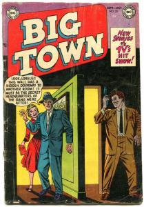 BIG TOWN #23 1953-DC COMICS-TV CRIME SERIES-DRUCKER ART VG