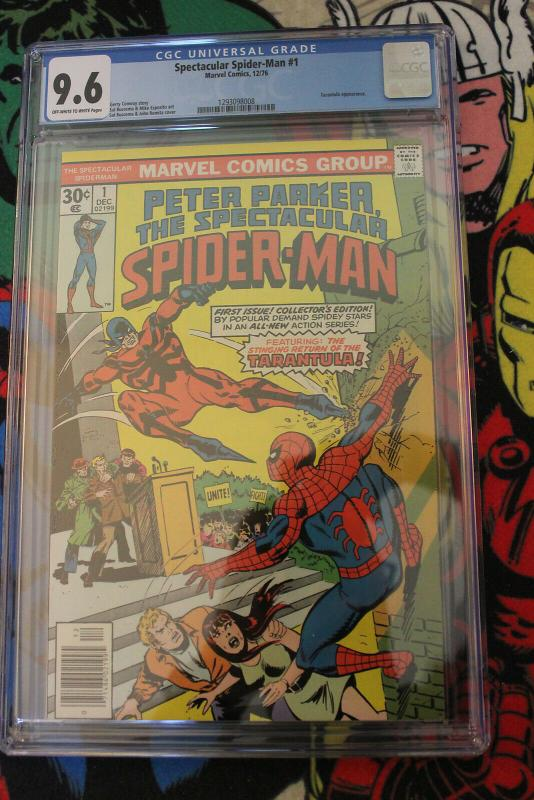 Spectacular Spider-Man #1 (Marvel, 1976) CGC NM+ 9.6 Off-white to white pages